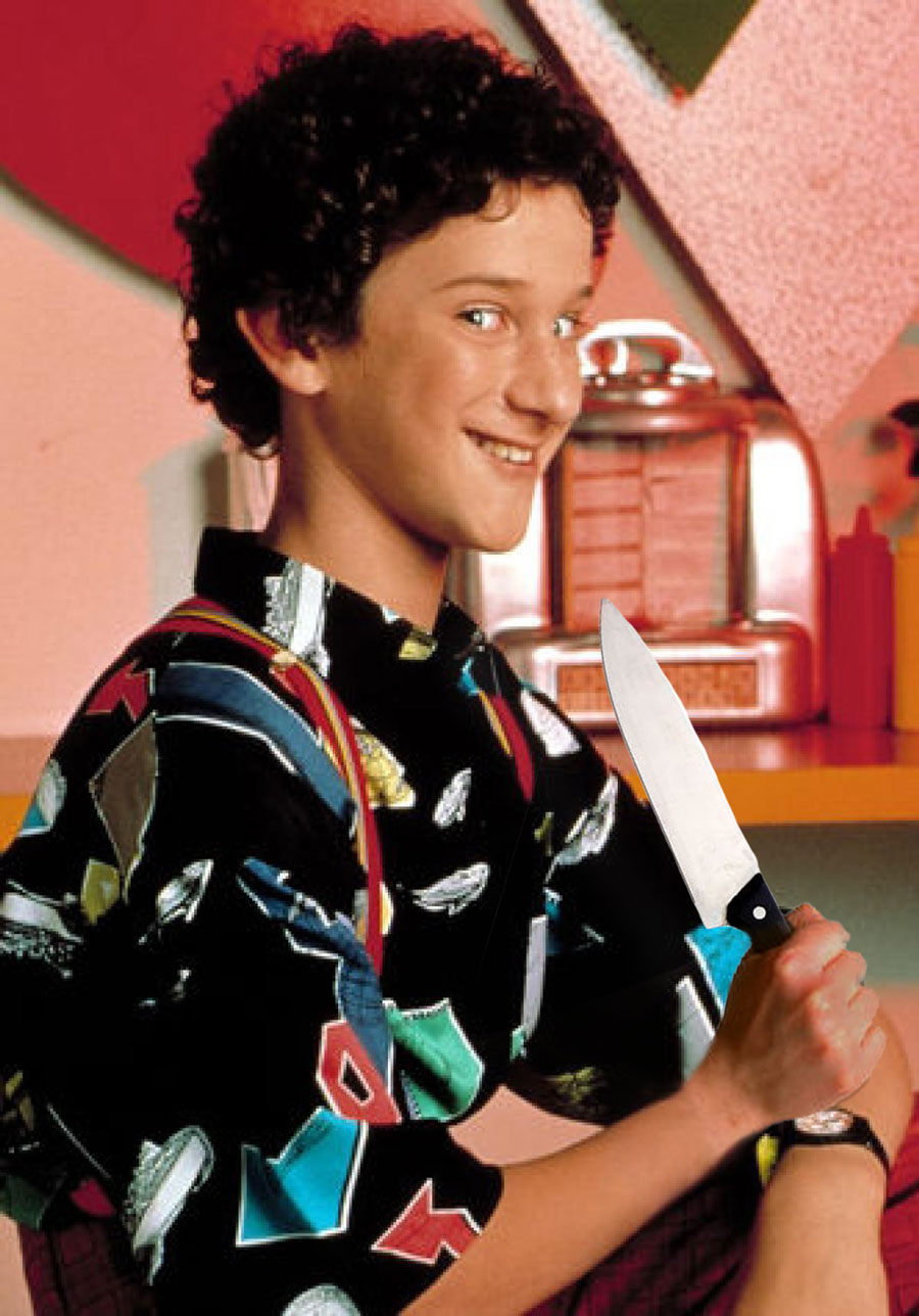 Screech didn't do it. Salty The Pocketknife did.